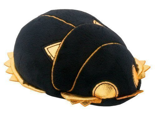 """Egyptian Black and Gold Scarab. Egyptian Stuffed Plush Doll. Cute Little Soft Cuddly Collectible Toy. Length 5.5"""""""