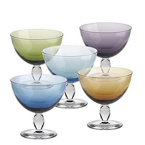 Eiscremeglas Dessertschale Eisbecher Mezzo 5er-Set Colori Vero 330ml bunt gemixt