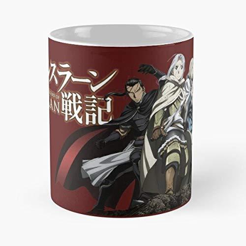 War Senki Arslan Kingdom Fūjin Gieve Daryun Narsus Epic Ranbu - Taza de café de cerámica de mármol blanco I