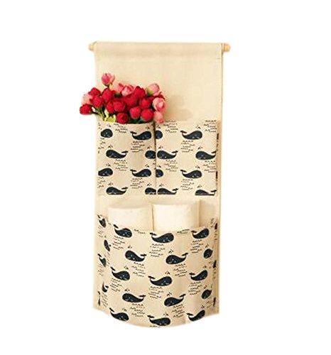 Sac de rangement mural de style simple Deux sac de rangement pour petit sac, Baleine