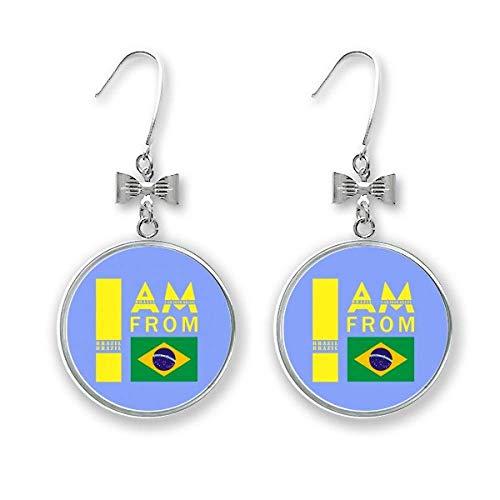 I Am From Brazil Art Deco Geschenk Mode Schleife Ohrringe Ohrhänger Ohrhänger Ohrhaken