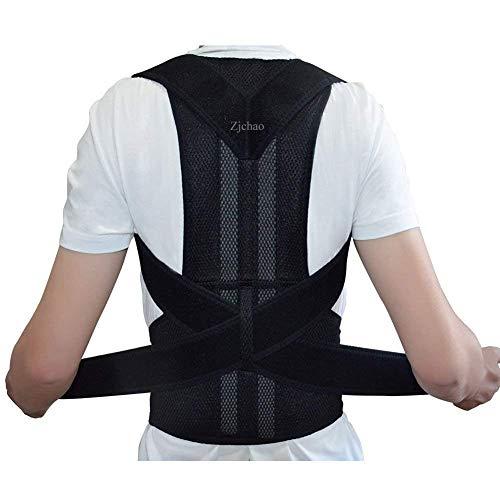 zjchao Geradehalter Rücken Bandage zur Haltungskorrektur bei Rücken Schulterschmerzen Damen und Herren (L)