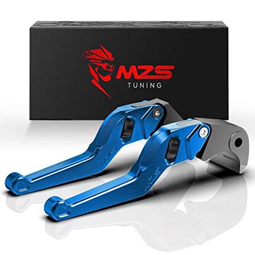 MZS Blue Short Levers Wheel Roller Brake Clutch Adjustment Compatible with CBR600RR PC37 CBR954RR SC50 CBR 600RR 954RR