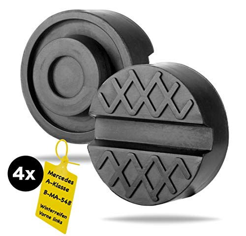 TK Gruppe Timo Klingler Wagenheber Gummiauflage - stabil & universal nutzbar - für Reifenwechsel mit praktischem Reifenmarkierer (1x)