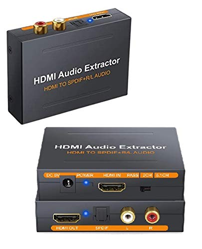 Neoteck HDMI Audio Extractor HDMI to Optical Spdif Toslink Converter + HDMI...
