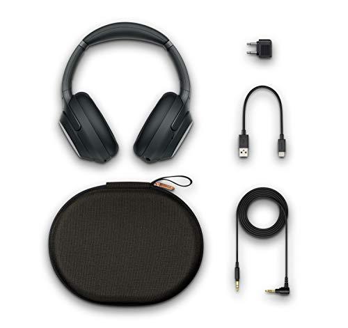 Sony WH-1000XM3 Bluetooth Noise Cancelling Koptelefoon, (30 Uur Batterijduur, 1.5 M USB Kabel, Touch Sensor, Headphones Connect App, Snellaadfunctie, Compatibel met Amazon Alexa), Zwart