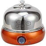 NanXi Gedämpftes Ei, Abnehmbarer automatischer elektrischer Eierkocher aus Edelstahl, für 9 Eier,...
