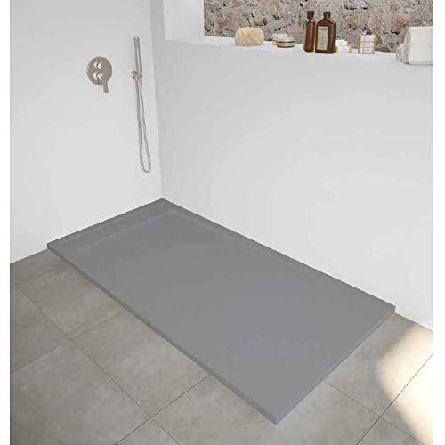 Plato de ducha extra plano New York superficie pizarra, gris: Amazon.es: Bricolaje y herramientas