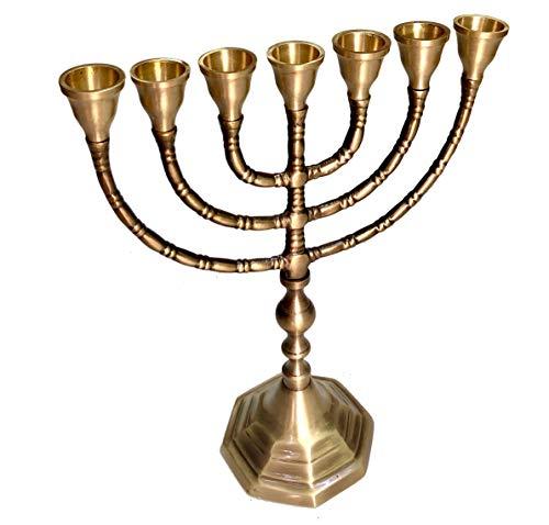 Menorah 7本の枝 燭台キャンドル ホーリーランド 7本の枝 イスラエルからの美しい燭台 聖地 エルサレム アンティーク ユダヤ教 ミノーラ キャンドルホルダー