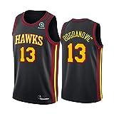 MRYUK Hombre Baloncesto Jersey, Danilo Gallinari 8# Bogdan Bogdanovic 13# Atlanta Hawks Baloncesto Swingman Vest Camiseta, Secado rápido y Transpirable NO.13-M
