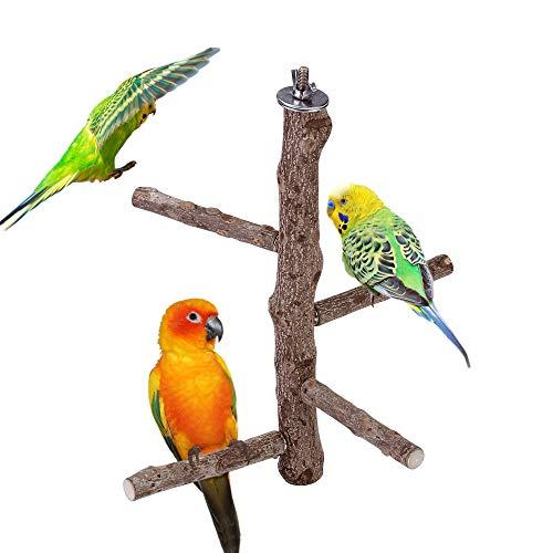 Mogokoyo Vögel Sitzstangen aus Naturholz Vogelspielplatz Spielzeug Für Vögel, Papageien, Wellensittich, Nymphensittich,Kanarienvögel