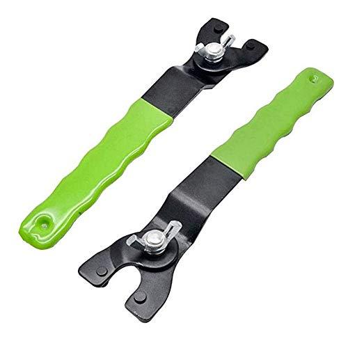 Winkelschleifer Schlüssel, 2 Stück verstellbarer Schraubenschlüssel für Winkelschleifer, 12-47 mm verstellbarer Winkelschleifer aus Kohlenstoffstahl, geeignet für die meisten Winkelschleifer