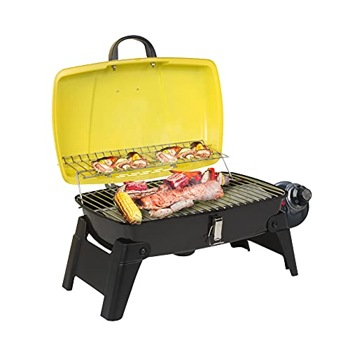 Camplux Tabletop Grill 189 Square Inch, Portable Gas Grills with Piezo Ignitor, Small Propane Grill 10,000 BTU for Outdoor Cooking