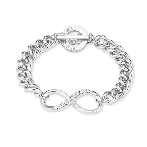 NOELANI Damen-Armband rhodiniert mit Infinity-Motiv mit Kristallen von Swarovski