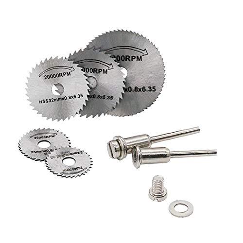 Juego de 7 piezas de herramientas giratorias portátiles de corte de cuchillas de sierra circulares para Dremel Cutoff regalo de vacaciones