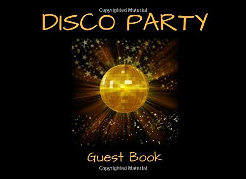 Disco Party Guest Book: An Event Signing Keepsake Guestbook