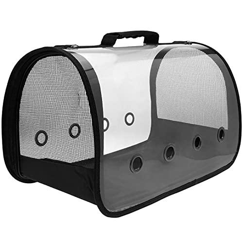 CityBAG - Maleta para Transporte de Mascotas Gato y Perro. Transportin de plástico Transparente