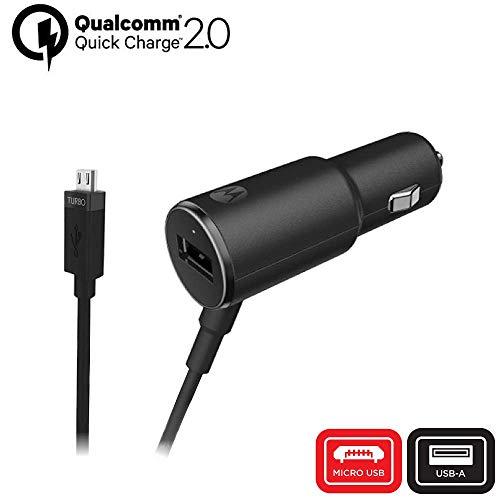 Motorola TurboPower 25 QC2.0 Micro-USB-Kfz-Ladegerät mit zusätzlichem USB-A Anschluss für Moto G3/G4/G5/G5S Micro-USB-Geräte (Einzelhandelsverpackung)