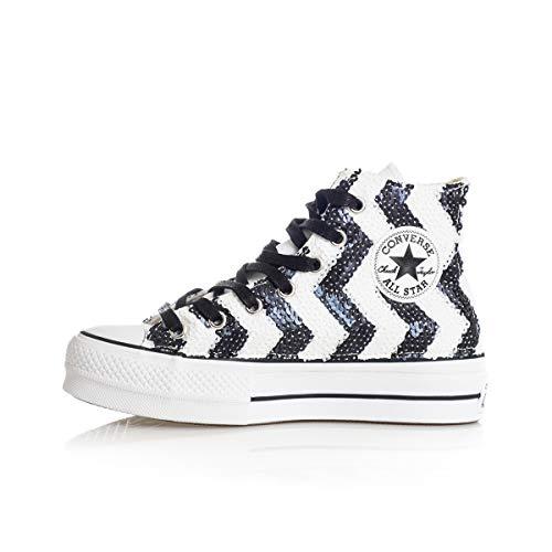 Converse Sneaker Chuck Taylor all Star Lift Donna Bianco/Nero 39.5 Taglia Europea : 39.5