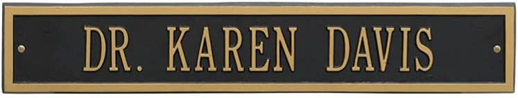 Arch Extension Estate Wall Address Color: Year-end annual account Gold Lett Plaque Many popular brands Black