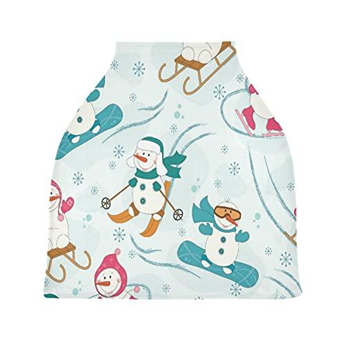 Muñeco De Nieve De Esquí La Lactancia Materna Enfermería Cubierta Asiento de Coche de Bebé con Dosel Transpirable Carros de La Compra Cubierta para Bebé