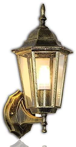 KY LEE ブラケットライト ウォールランプ 玄関ライト アンティーク調 レトロ E26口金 屋外ウォールライト 屋外照明 壁掛け照明 壁付け照明 階段照明 門灯 防水 外灯 インテリア 室内 照明器具 電球を含む 茶色