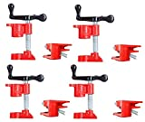 "FLK Tech 4 Pack 3/4"" Wood Gluing Pipe Clamp Set Heavy Duty..."