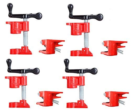 "FLK Tech 4 Pack 3/4"" Wood Gluing Pipe Clamp Set Heavy Duty"