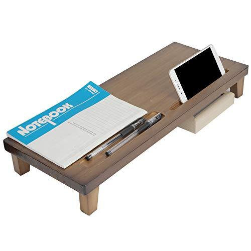 Elevador de escritorio, soporte de monitor multifunción conveniente para monitores/pantallas para sala de estar para oficina para computadoras portátiles(marrón, azul)