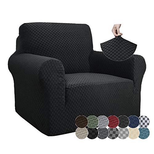 ZNSAYOTX - Fundas para sillas de Jacquard de 1 Pieza, Fundas para sillas de Alta Elasticidad con Brazos, Antideslizante, para sofá,...