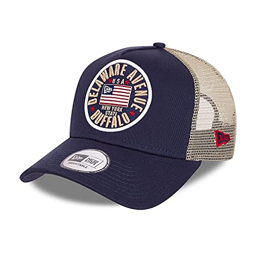 New Era US Flag Pack Navy A-Frame Adjustable Trucker Cap - One-Size