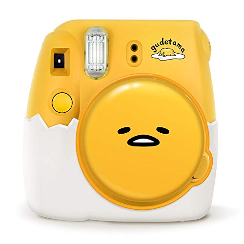 Nishow Fujifilm instax Mini 9 Instant Film Camera Polaroid for Ideal Gift Set - Gudetama Yellow Egg(Global Limited Release) Unique Silicone Lens Protection Cap and Silicone Eggshell Base