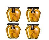 Albaricoque mitades en almibar en tarro de cristal 570gr (300gr neto) Pack de 4 unidades