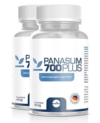 Panaslim - Das Original! | Starker STOFFWECHSELKOMPLEX | hochdosierter FATBURNER | 100% natürliche Inhaltsstoffe | Made in Germany | 120 Kapseln