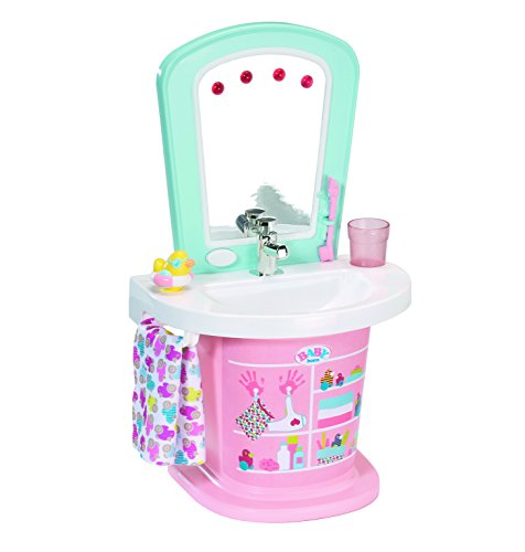 Zapf Baby Born Wash Basin Water Fun Doll washbasin - Accesorios para muñecas (Doll washbasin, 3 año(s), Verde, Rosa, 43 cm, Chica, Baby Born)