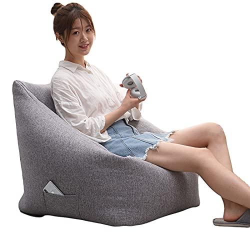 Large Gamer Sitzsäcke fir Erwachsene ohne Füllung High Back Recliner Sitzsack Bazaar Paneled Classic Sitzsack Stuhl Gaming Sitzsack Garden Lazy Lounger Seat Chair Sofa Cover