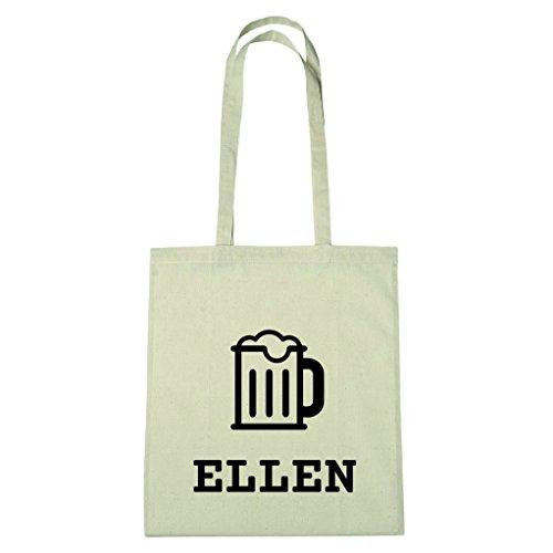 JOllify Baumwolltasche - Happy Birthday für ELLEN - Bier Gruß