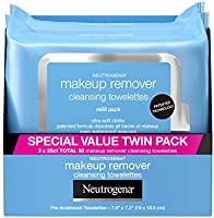 Neutrogena Makeup Remover Cleansing Face Wipes, Daily Cleansing Facial Towelettes to Remove Waterproof Makeup and...