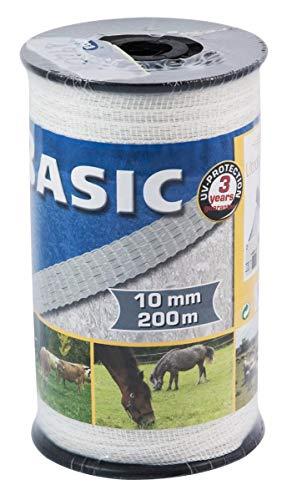 LEM Select Ruban de clôture Blanc 10 mm 200 m