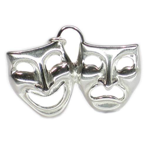 Drama Masken aus Sterling-Silber 925, 1 DKC3525