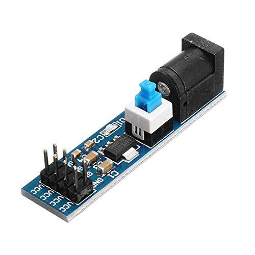 MUKUAI56 10 unids AMS1117 5 V módulo de fuente de alimentación con enchufe DC y interruptor DIY