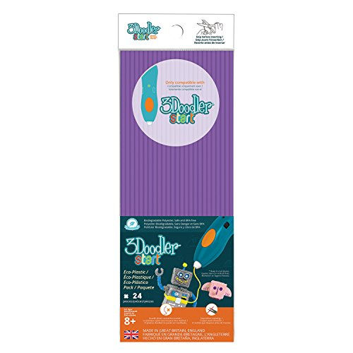 3DOODLER 62169 Start Plastic Packs Purple, Multicolored