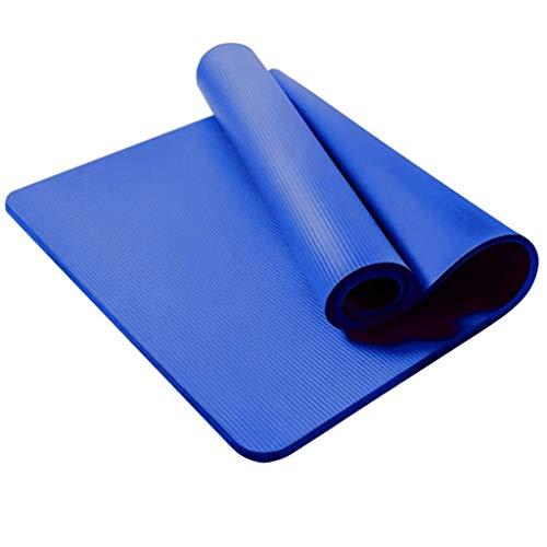 MOTOCO Komfort-Gymnastikmatte Yogamatte Hautfreundliche Fitnessmatte in 180X61X1,5CM mit Tragegurt Phtalatfrei - Sportmatte für Yoga Pilates und Bodenübung(180X61X1.5CM.Blau)