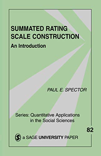 Summated Rating Scale Construction: An Introduction (Quantitative Applications in the Social Science