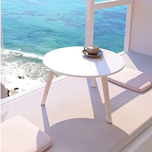 Diseño Moderno y Sencillo Mesa de centro, mesa redonda de la mesa de la mesa de café de la mesa redonda, utilizado en el dormitorio sala de estar balcón estantería redonda estantería Fácil de Montar