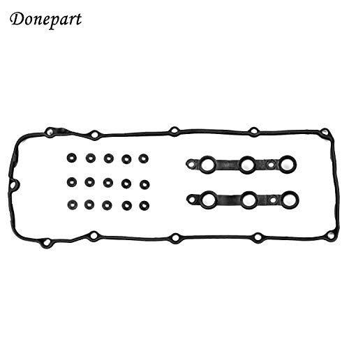 Donepart Compatible for BMW Valve Cover Gasket with Grommets for M54 E46 E39 E83 E53 325i 330i 325Ci 323Ci 323i 325xi 328Ci 328i 330Ci 330xi 525i 528i 530i X5 Z3 2002-2006