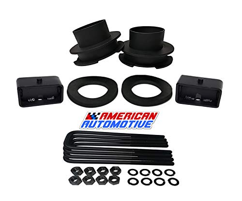 """American Automotive 1994-2001 Ram Lift Kit 2WD 3"""" Front Spring Spacers + 3"""" Rear Blocks Road Fury Series Leveling Lift Kit"""