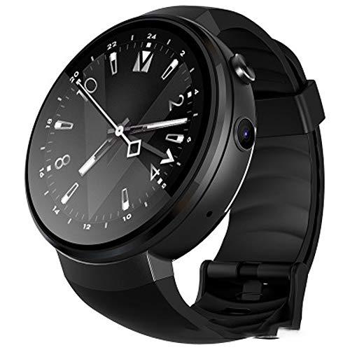 BTPDIAN Smart Watch Android Pasos GPS Pago Unicom Mobile 4G Soporte de Red de telecomunicaciones (Color : Black)