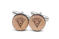 wood slice art ideas ~ cufflinks