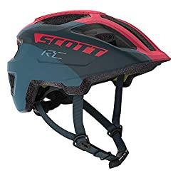 commercial Scott Punt Junior Plus Bike Helmet, One Size, Blue / Pink scott bicycle helmets